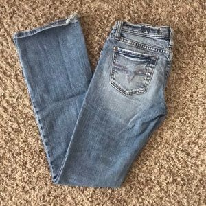 Light wash flare jeans